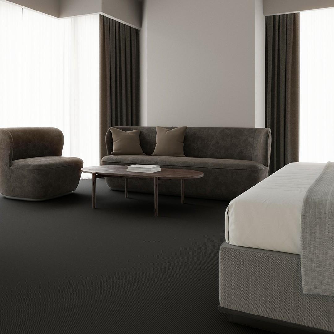 Una Tempo Stripe ECT350 grey Roomview 3