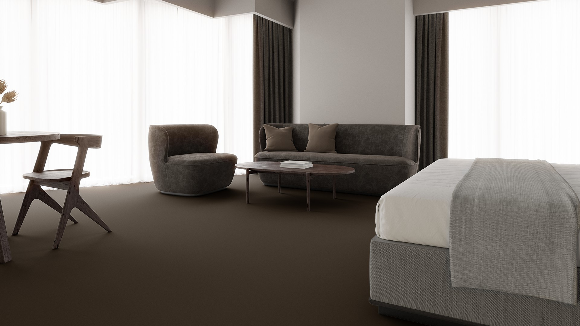Texture 2000 wt taupe RoowView 1