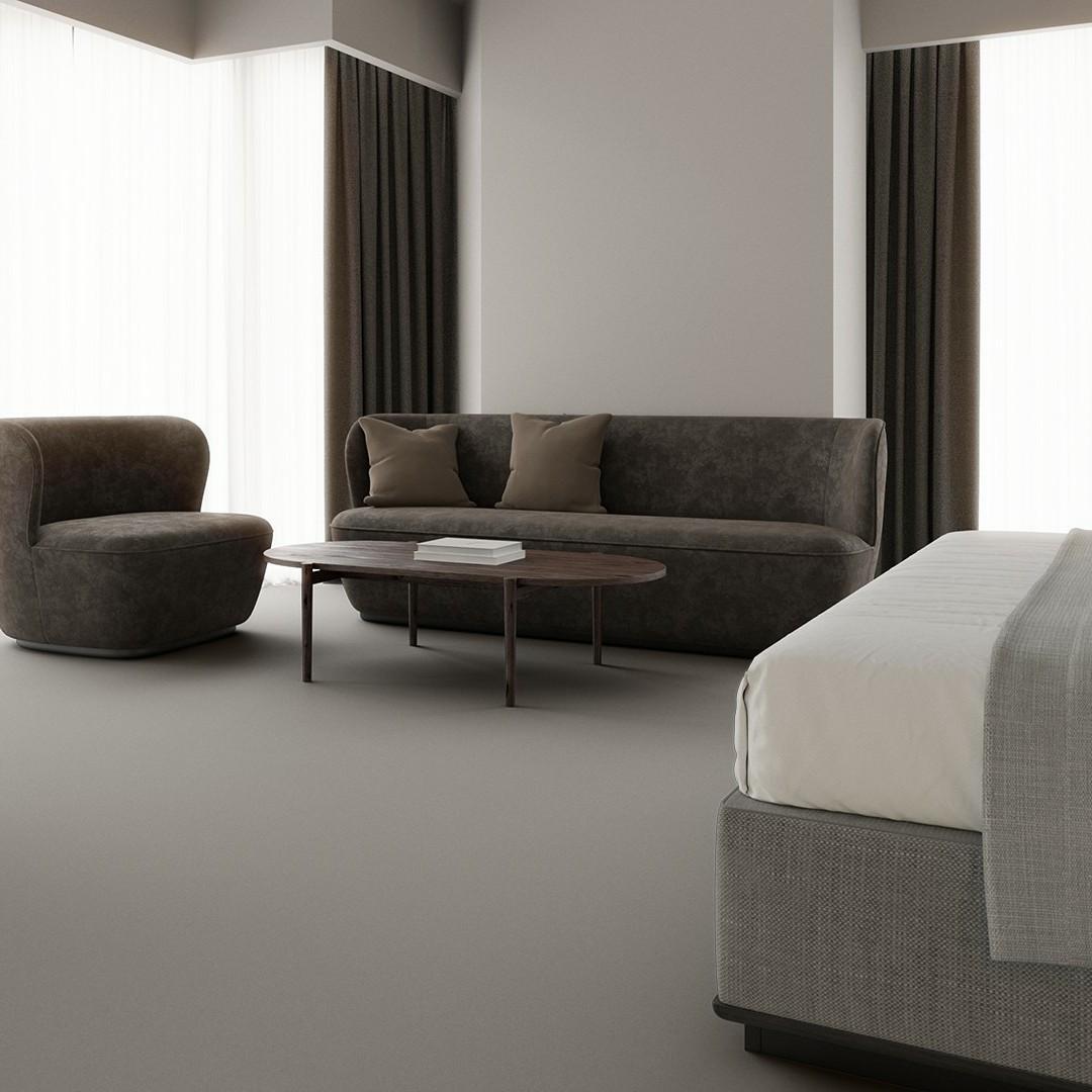 Texture 2000 wt  light grey Roomview 4