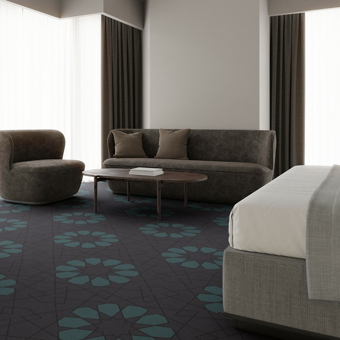 geometric lace  purple Roomview 4