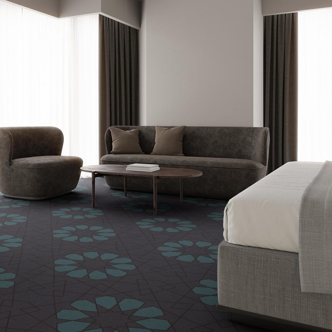 geometric lace  purple Roomview 3