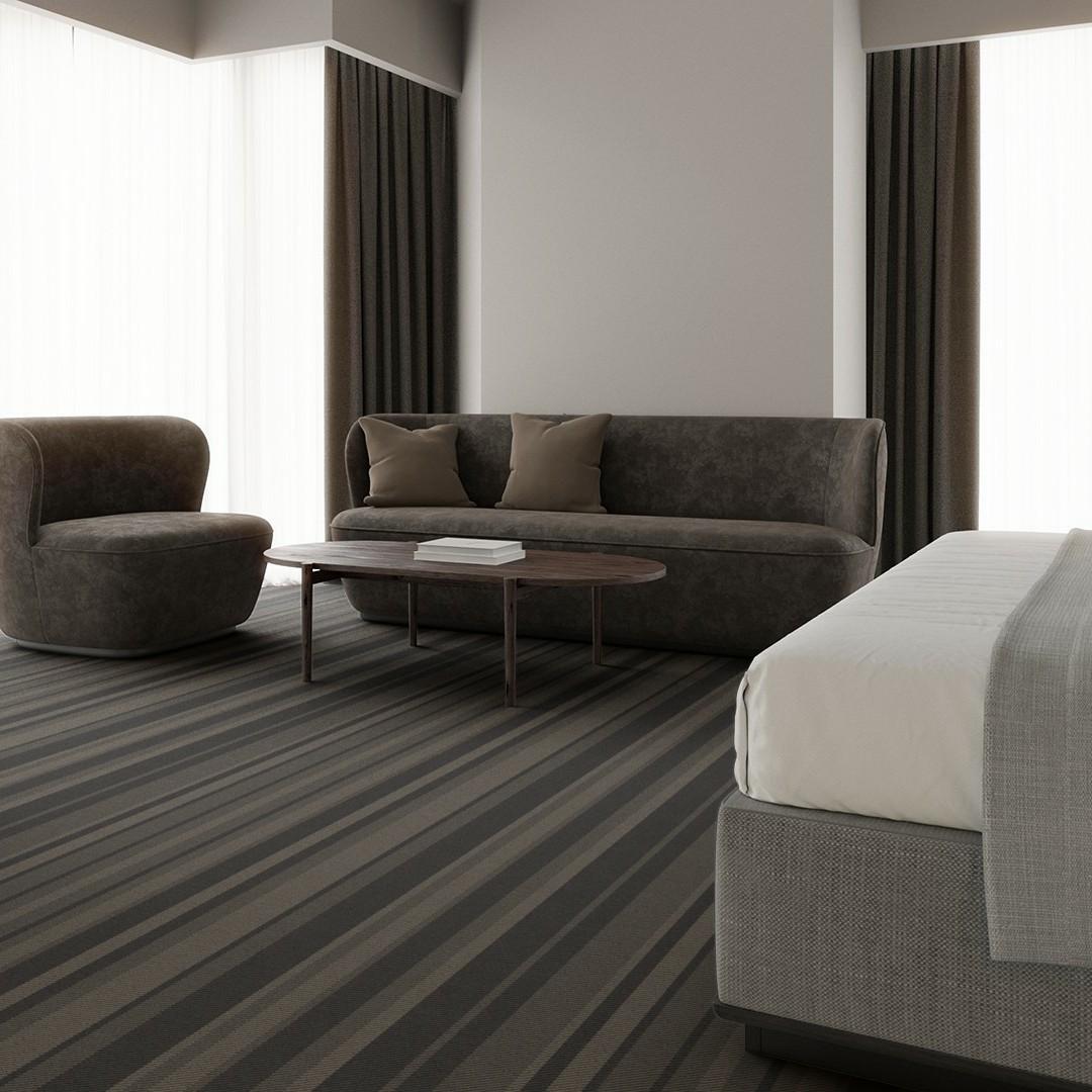 denim stripe black Roomview 4