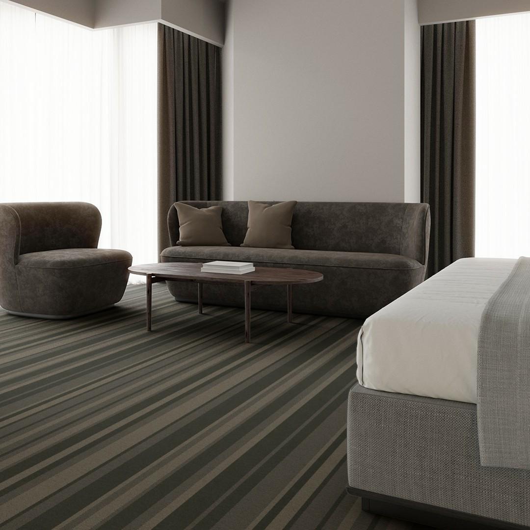 denim stripe green Roomview 3