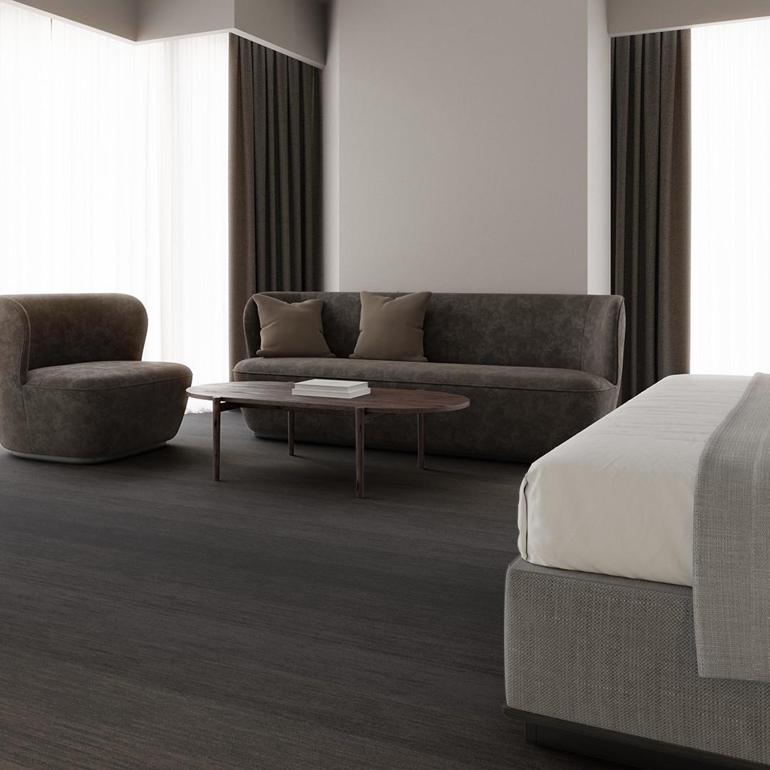 melange stripe  grey Roomview 3
