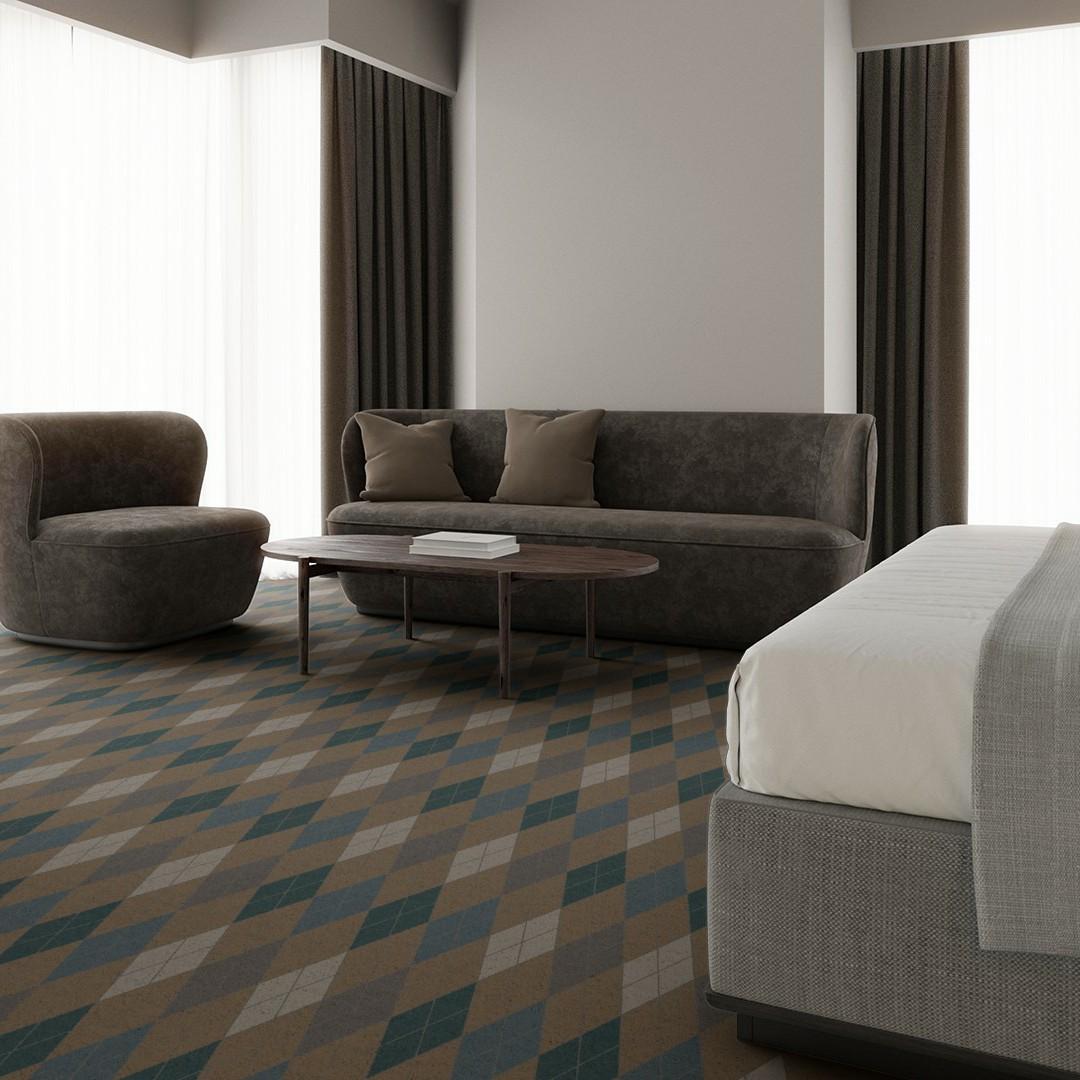ARGYLE  beige Roomview 3