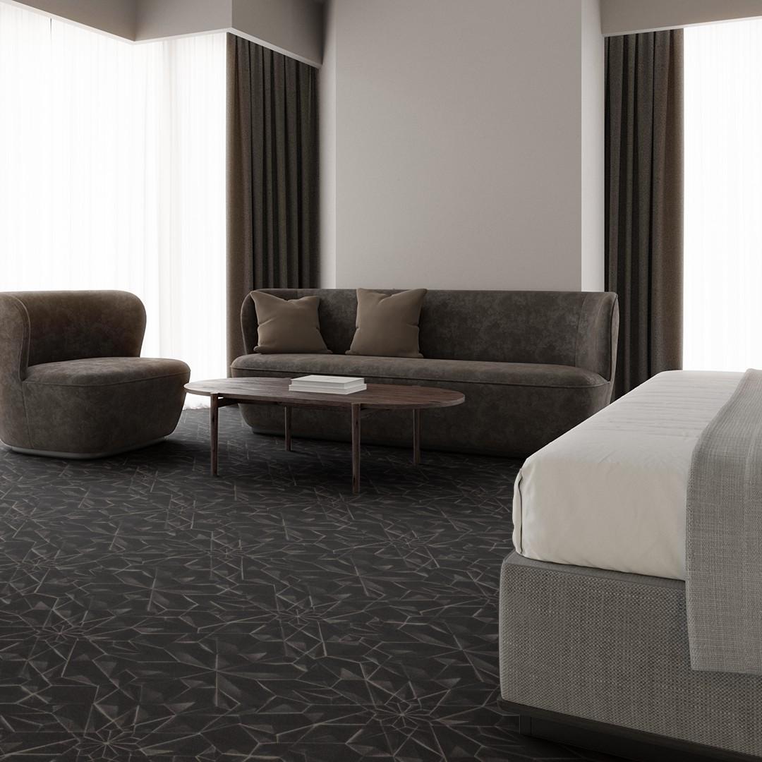 3d tile  black Roomview 3