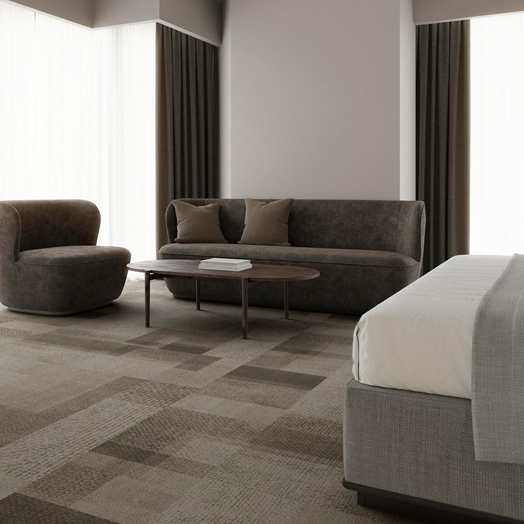 rewoven mono  beige Roomview 4