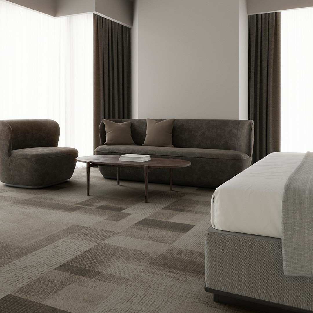 rewoven mono  beige Roomview 3