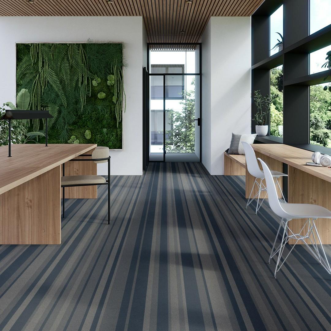 denim stripe blue Roomview 4