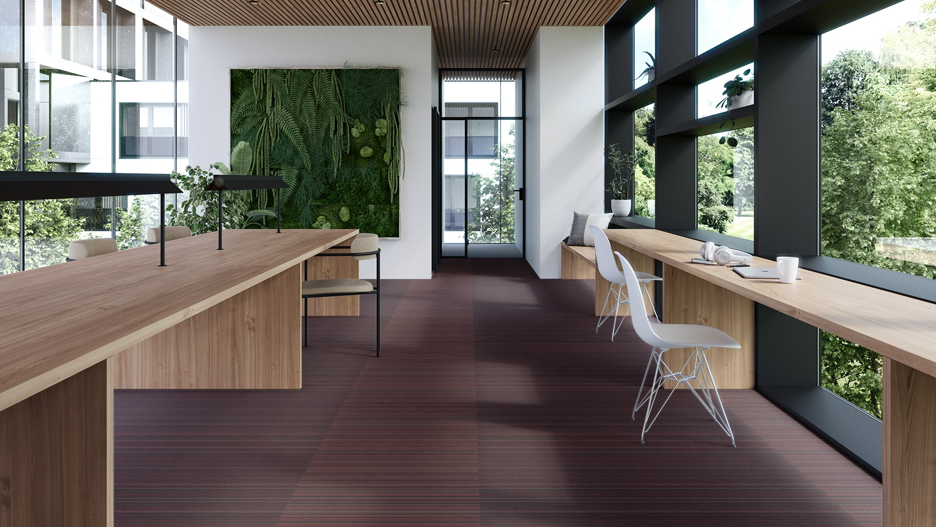 madras stripe corridor 195 cm red RoowView 4