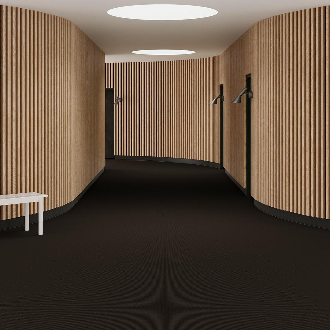 Una Tempo Stripe ECT350 d.brown Roomview 1