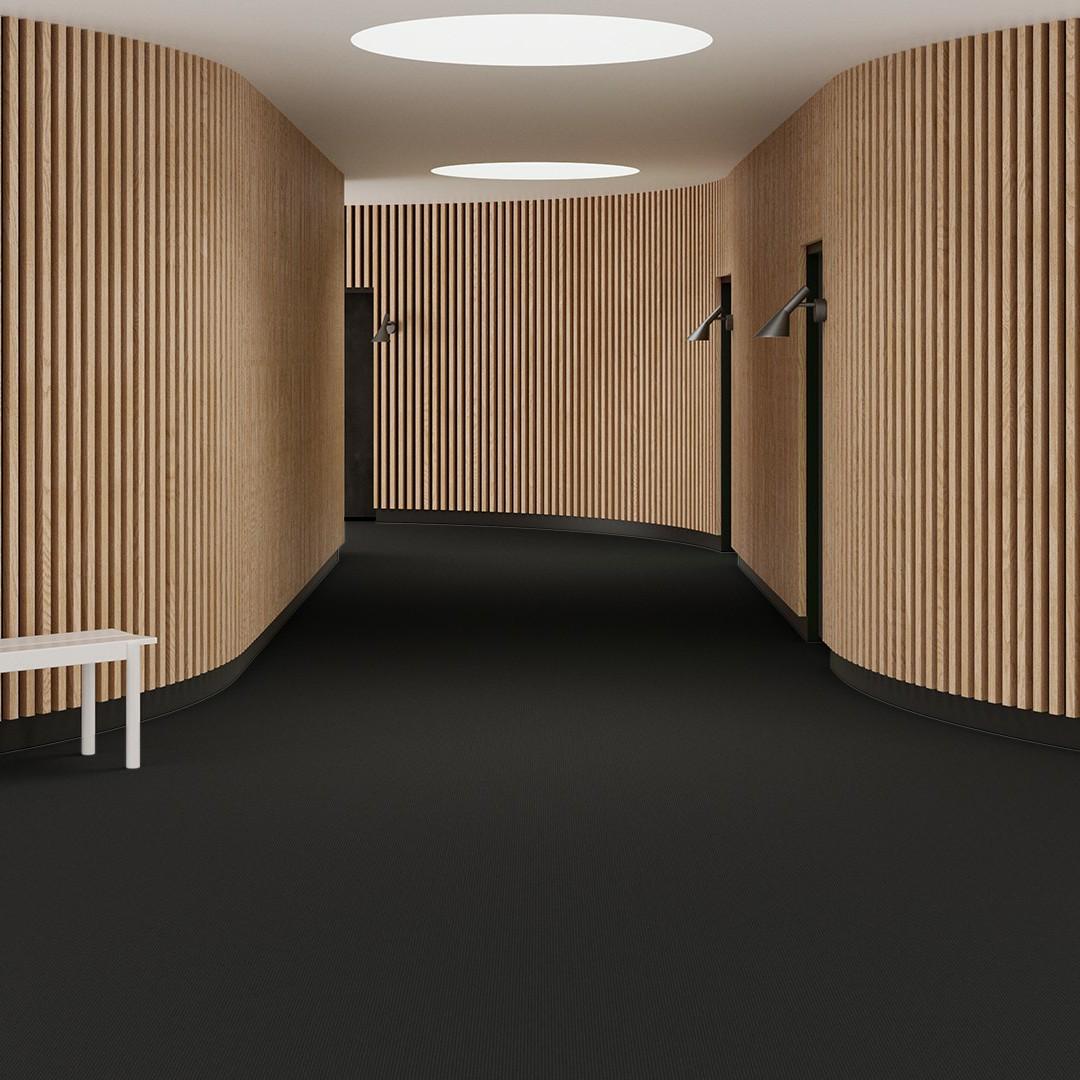 Una Tempo Stripe ECT350 deep black Roomview 1