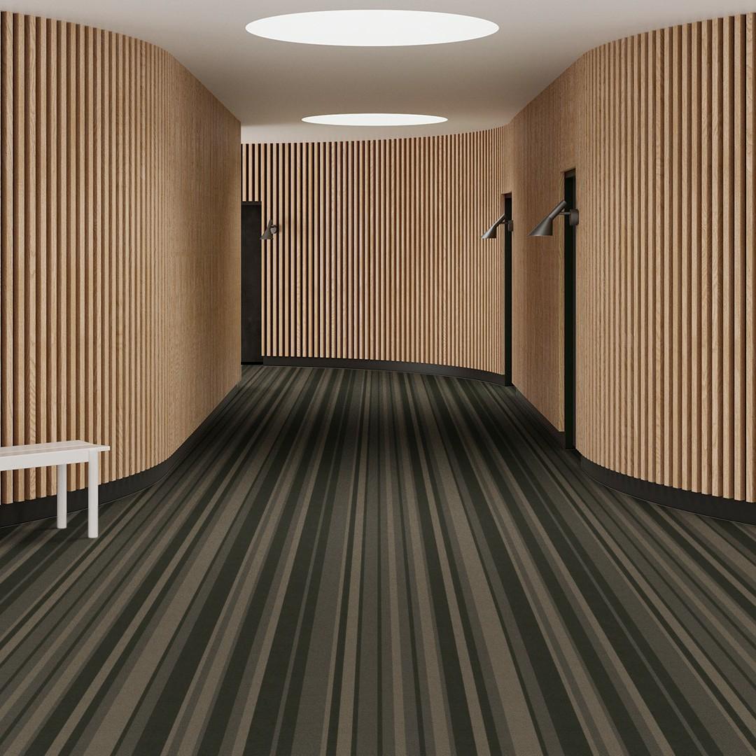 denim stripe green Roomview 1