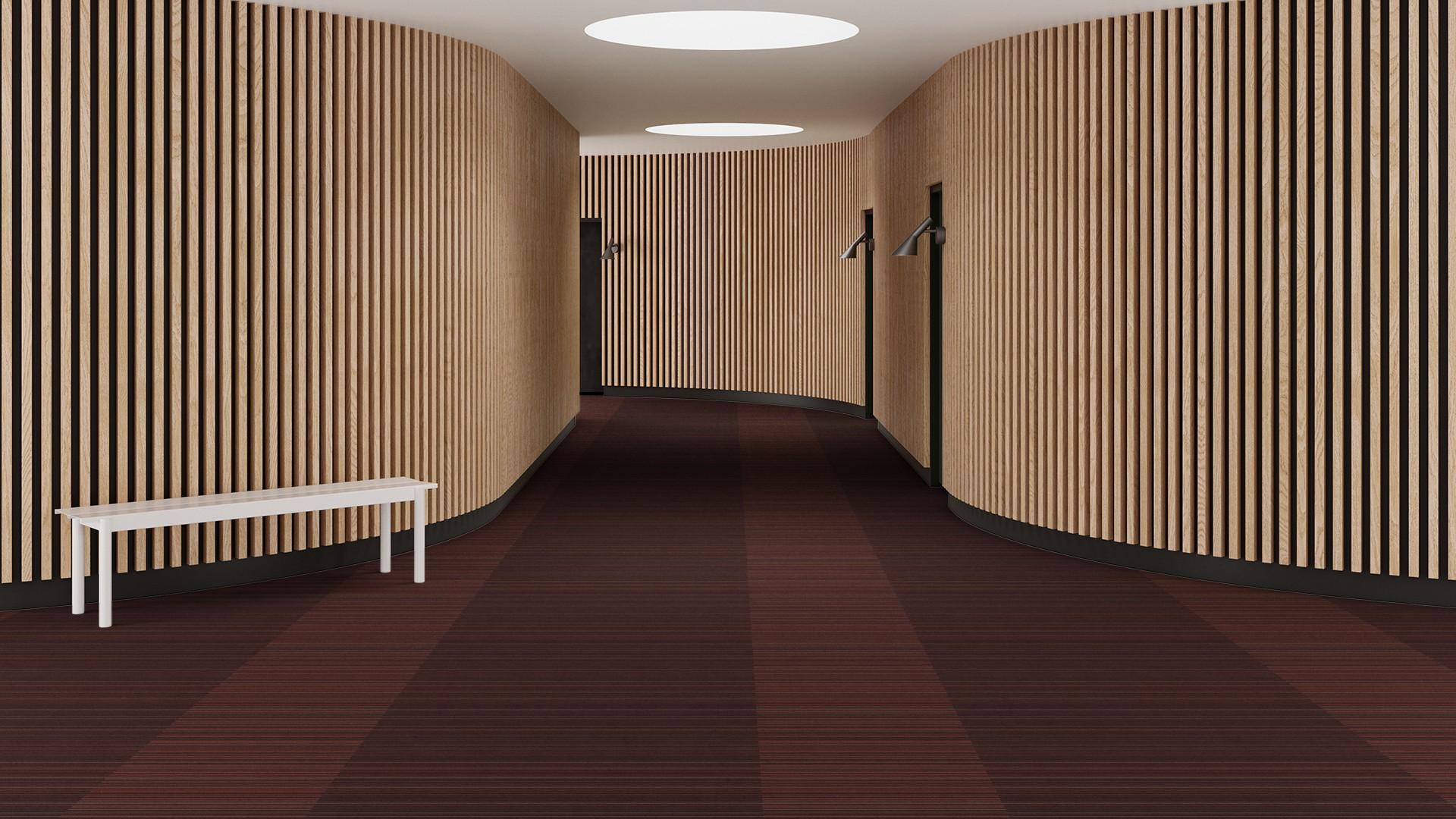madras stripe corridor 195 cm red RoowView 3