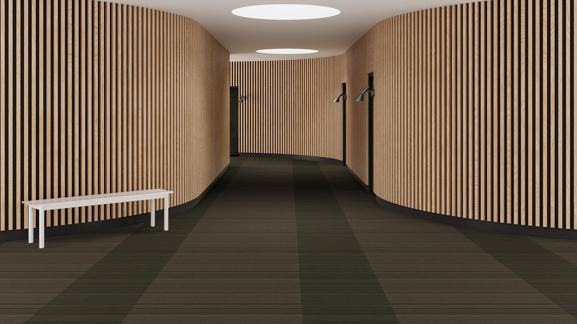 madras stripe corridor 195 cm green RoowView 3