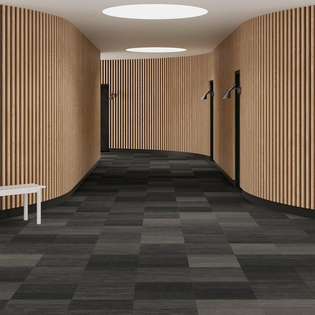 Melange Stripe  grey Roomview 1
