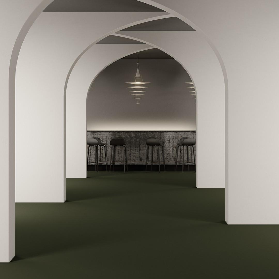 Epoca Ribs dark dust green Roomview 2