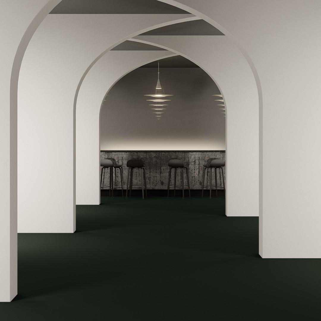 Texture wt emerald green Roomview 2