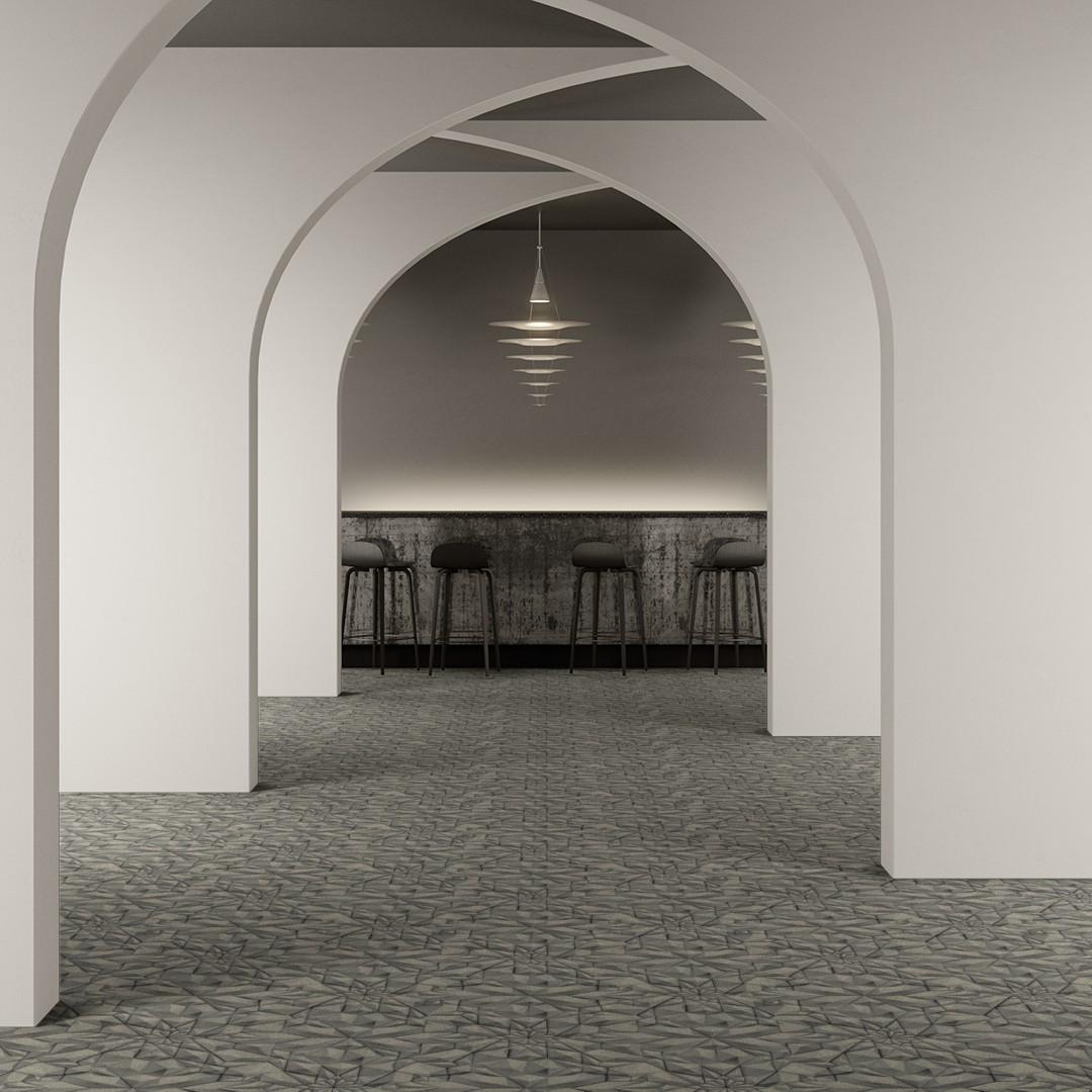 3d tile  grey Roomview 2