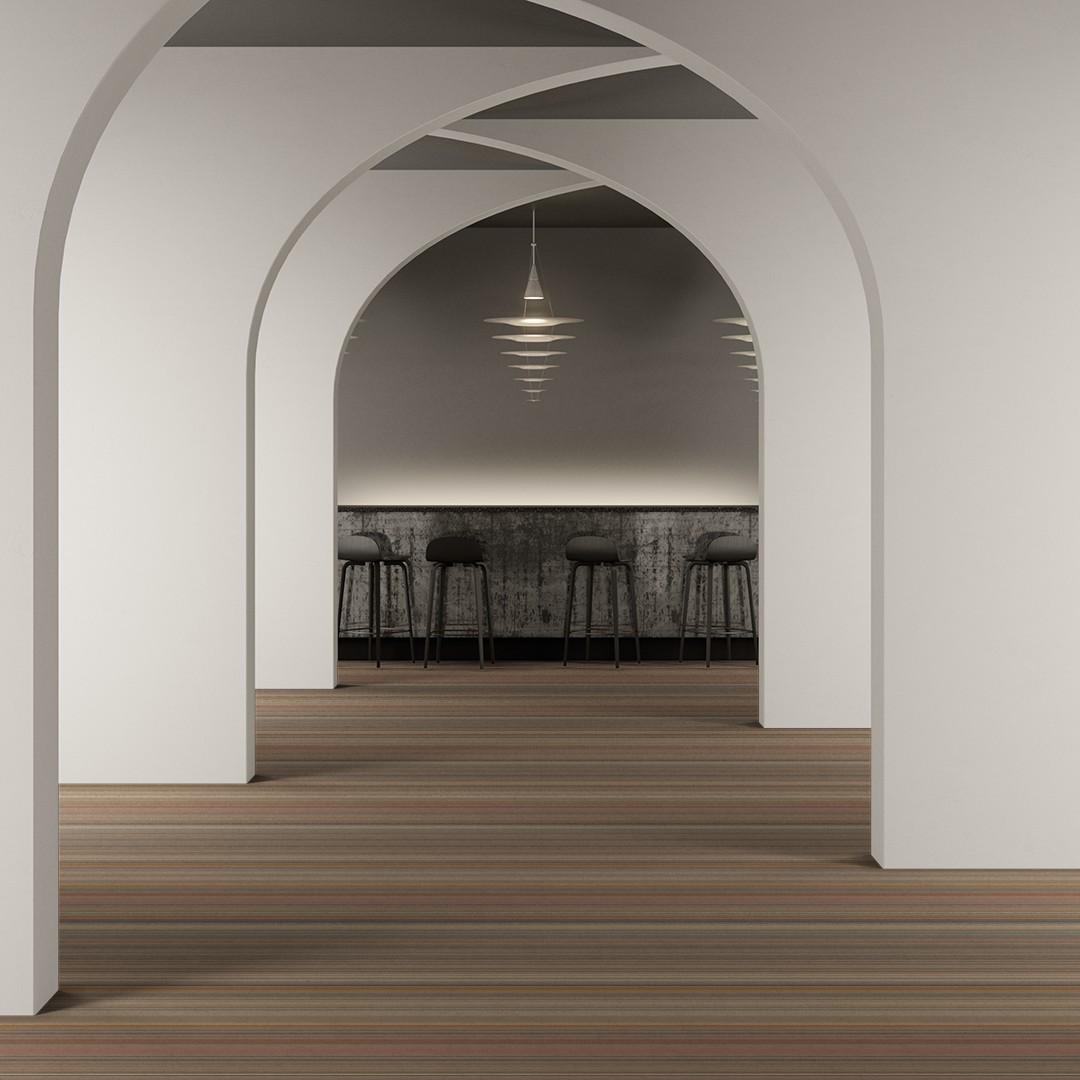 bright stripe  beige Roomview 2