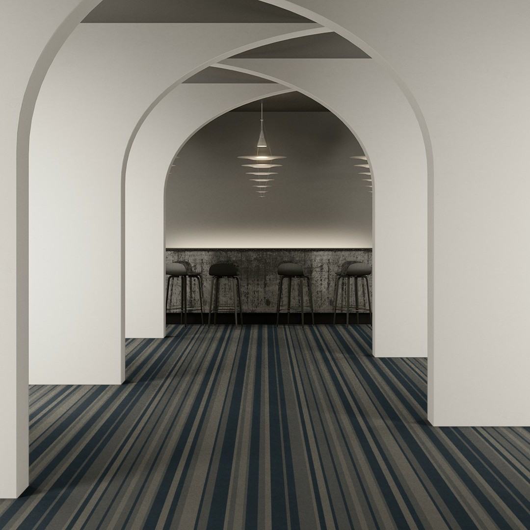 denim stripe blue Roomview 2