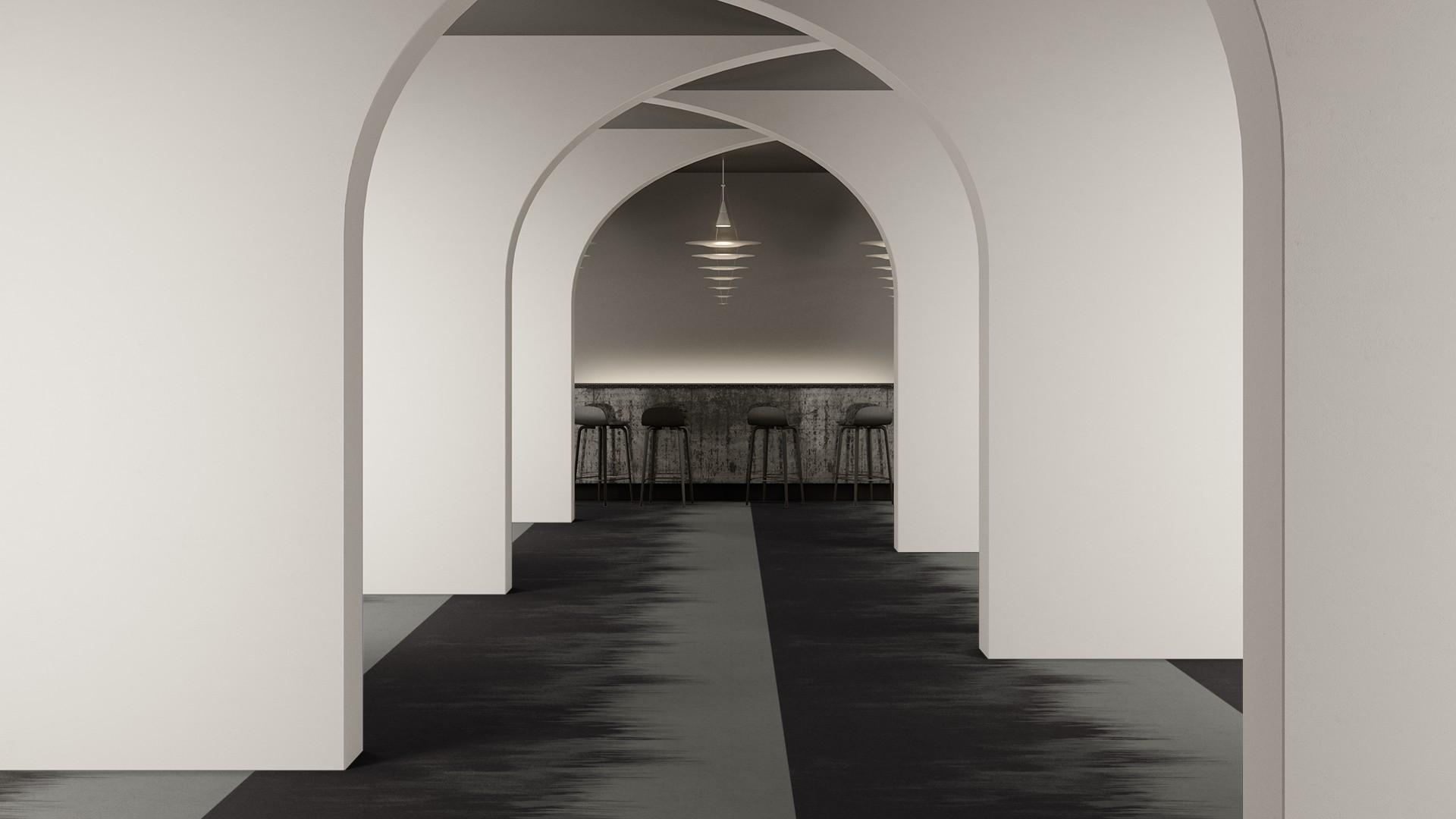 brush corridor 195 cm grey RoowView 2