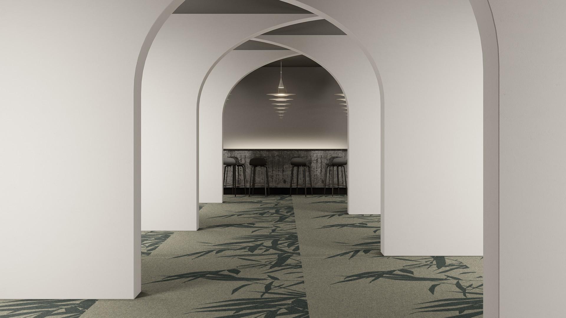 bamboo breeze corridor 195 cm green RoowView 2