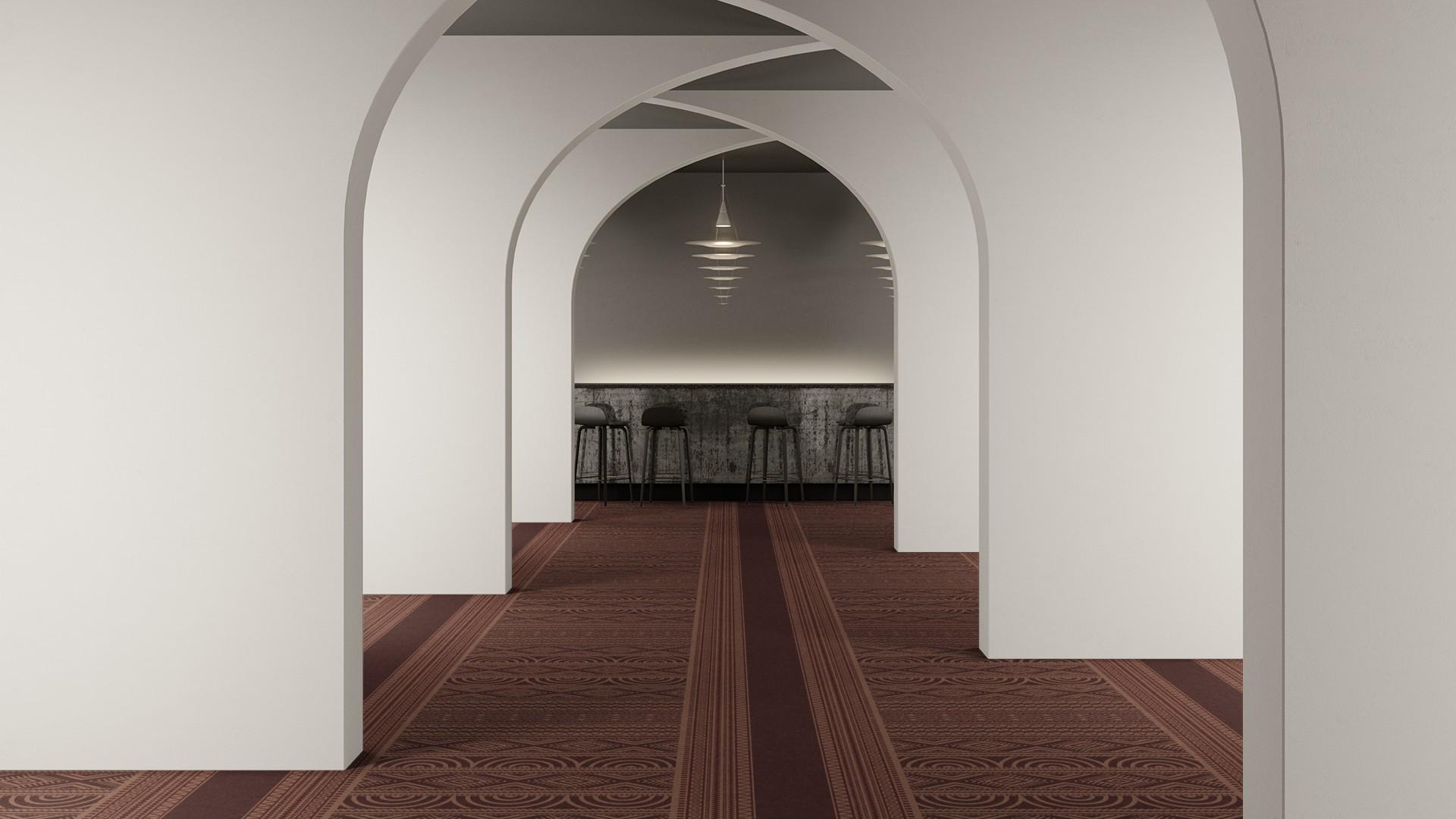 ghana corridor 195 cm red RoowView 2