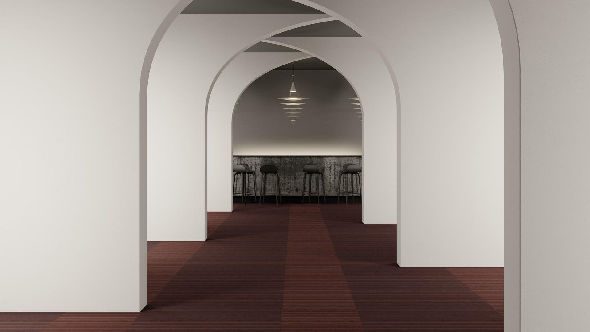 madras stripe corridor 195 cm red RoowView 2