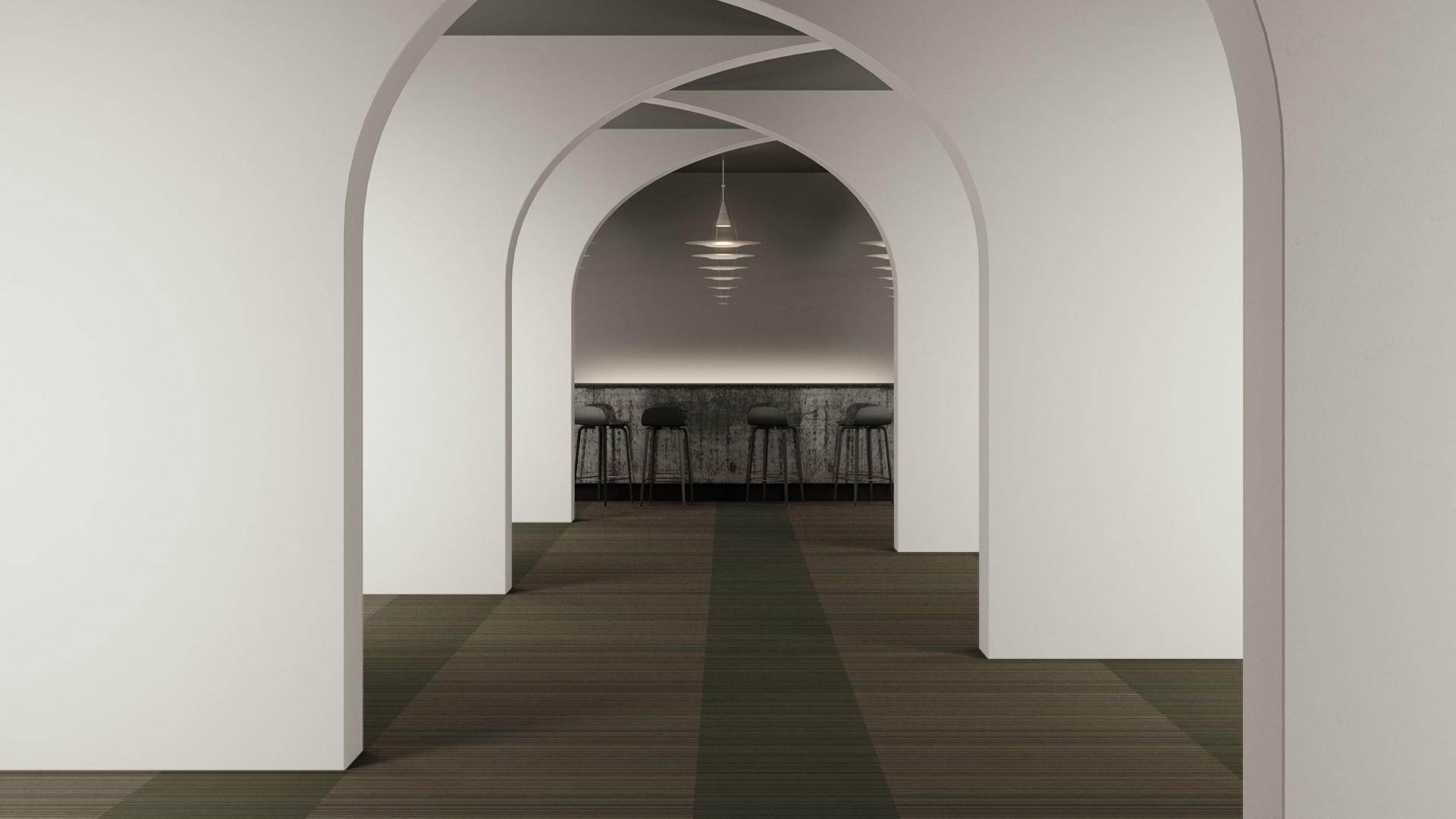 madras stripe corridor 195 cm green RoowView 2