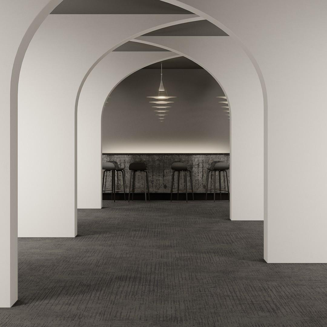 Captured Lines  grey Roomview 2