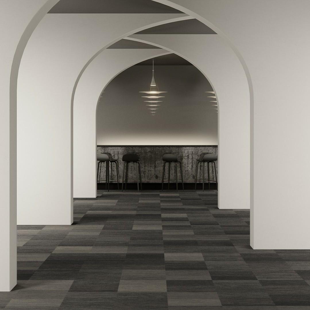 Melange Stripe  grey Roomview 2