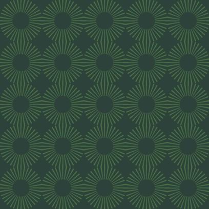 cosmic flower green