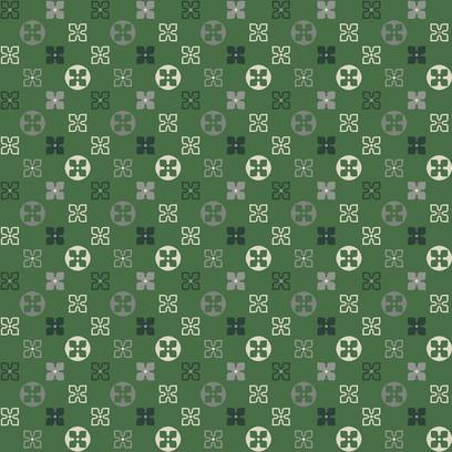 funky rosette green