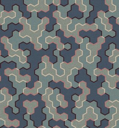 polygon patch  blue