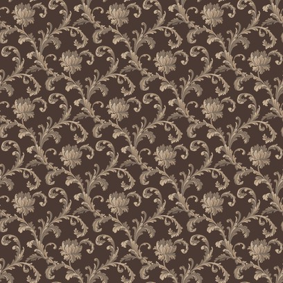 scroll rose   brown