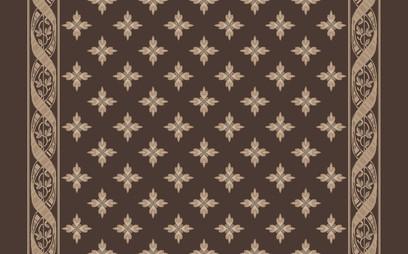woven ribbon corridor brown