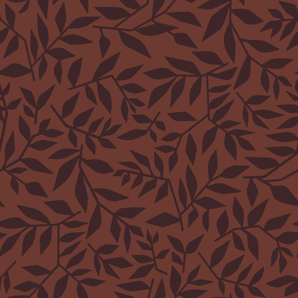 graphic leaves  red