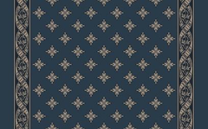 woven ribbon corridor  blue