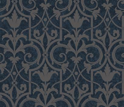 patinated flowerwork  blue