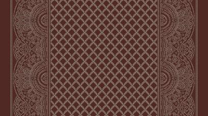 paisley shawl corridor  red