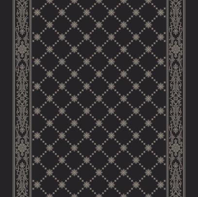 royal palace corridor  black