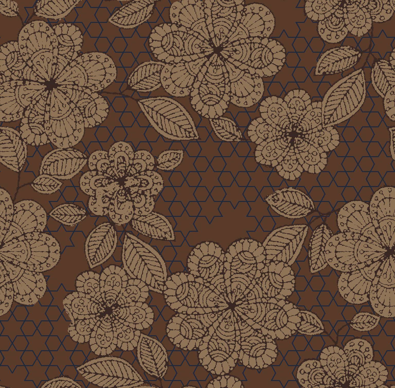 ancient flower brown