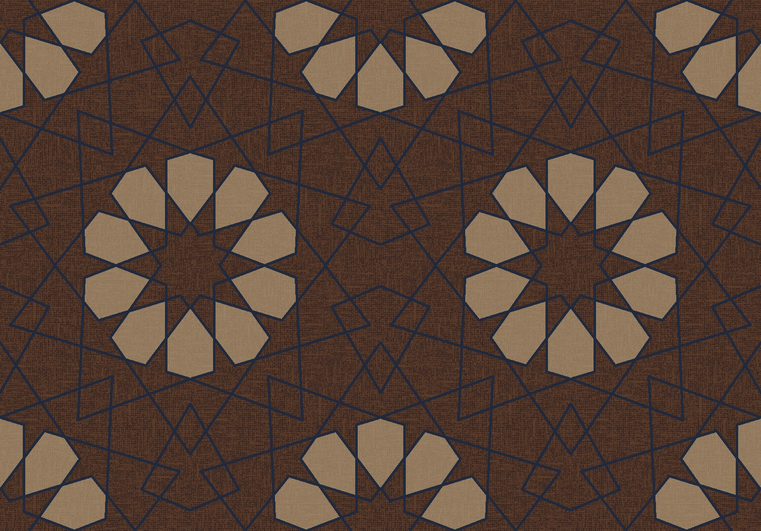 geometric lace brown
