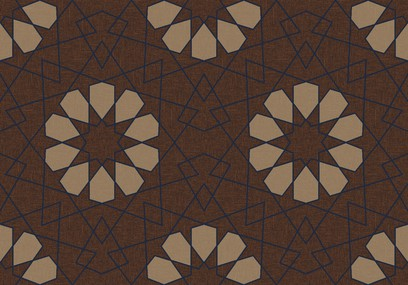geometric lace brown