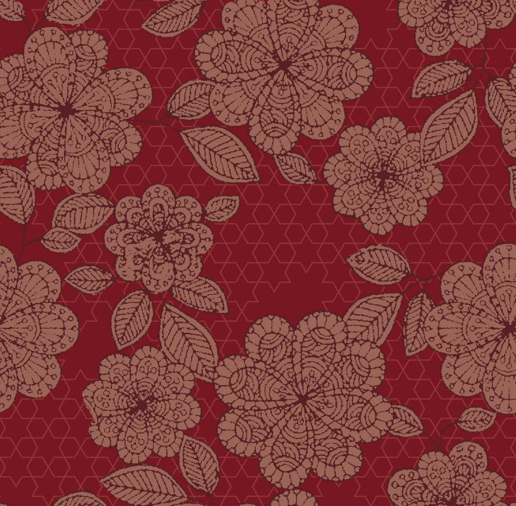ancient flower   red