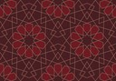 geometric lace   red