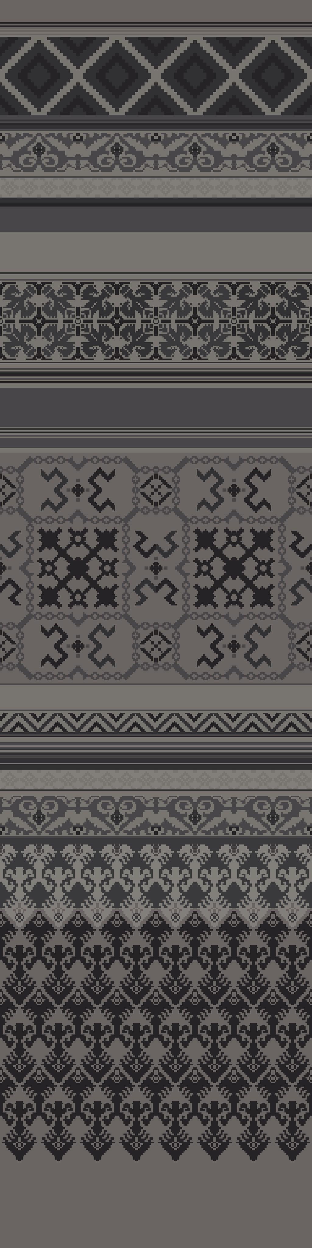 village prints  grey