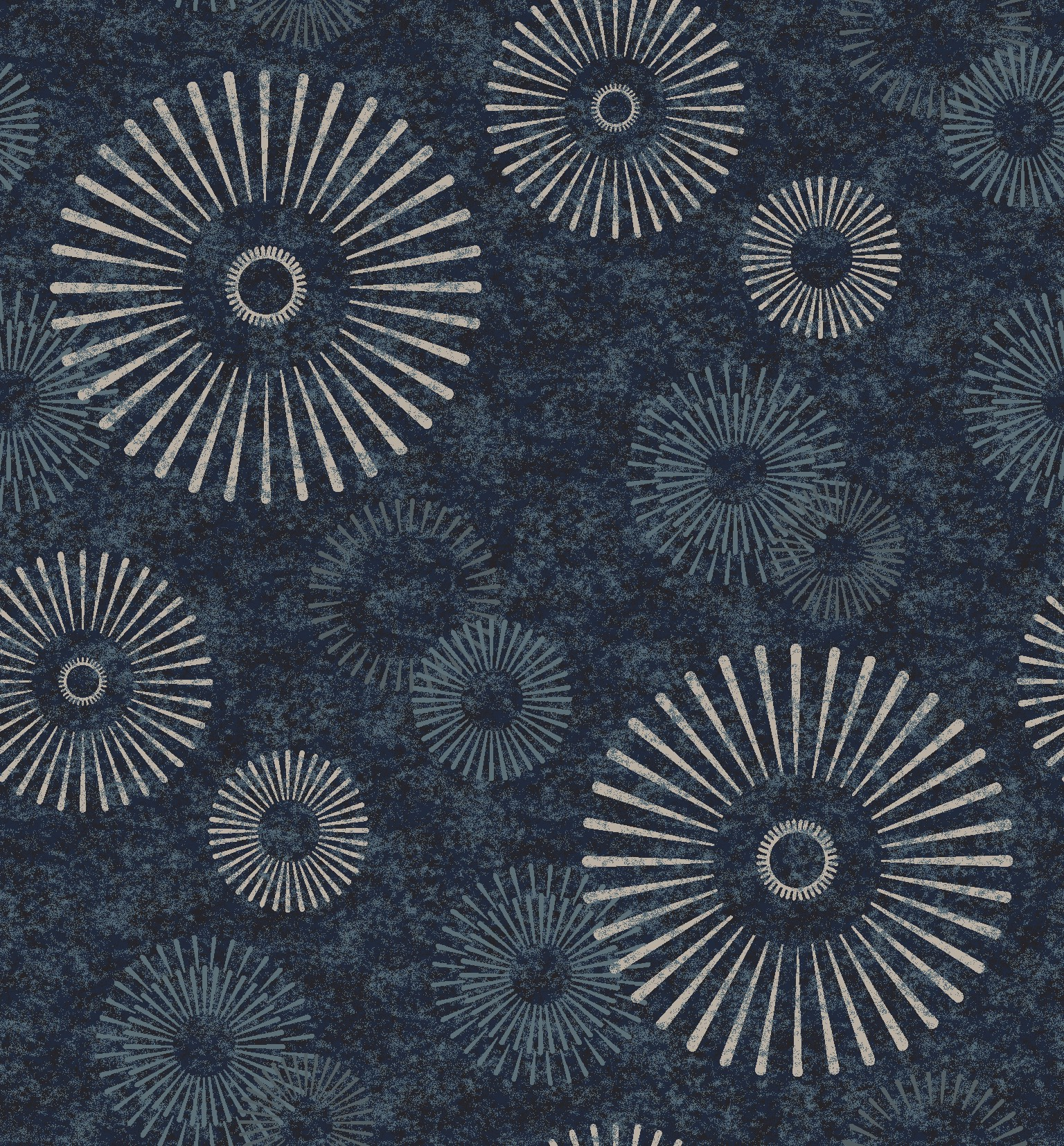 abstract flower blue