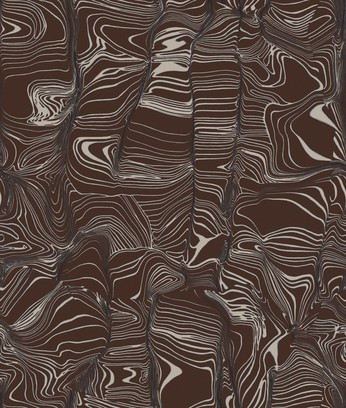 glass distortion brown